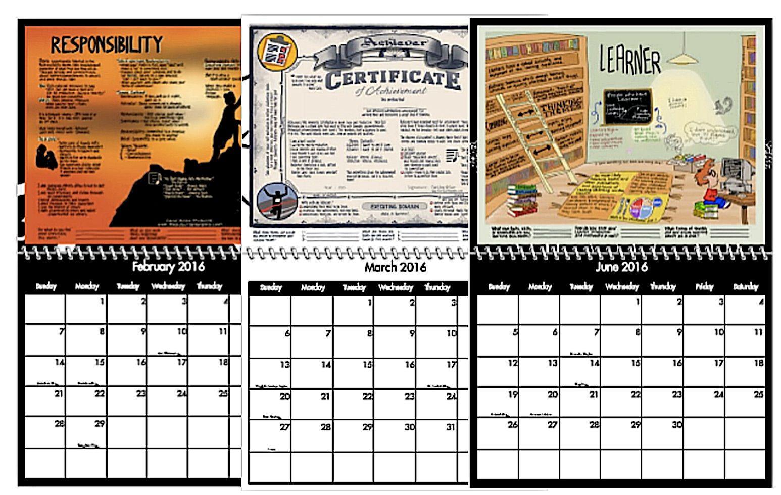 Custom Strengths Calendars