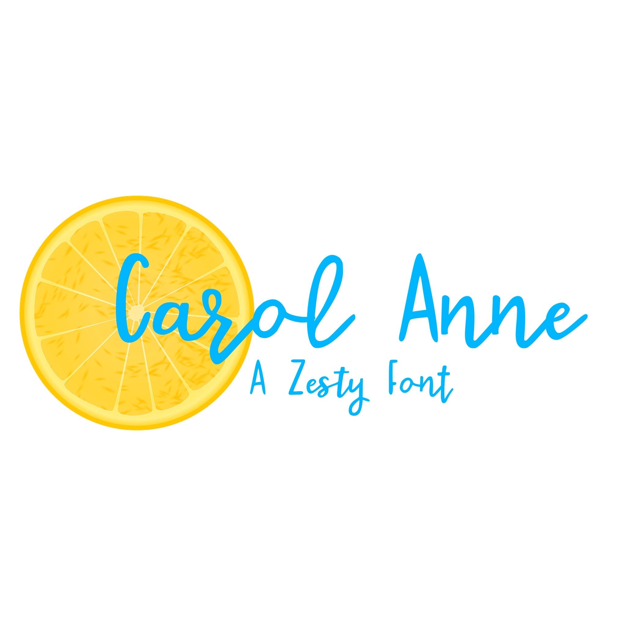 Carol Anne (a custom font)